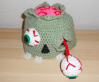 Crochet Zombie Patterns : Braaaains!!! Zombie Hat Pattern (Limited Time Only) - Hook ...